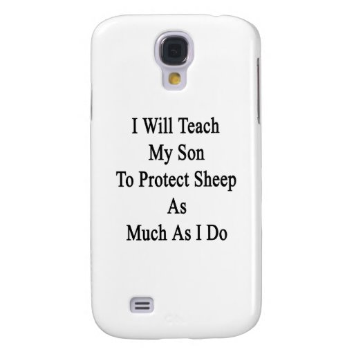 Enseñaré a mi hijo a proteger ovejas tanto como mí