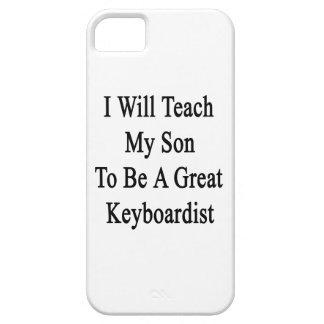 Enseñaré a mi hijo a ser gran teclista iPhone 5 carcasas