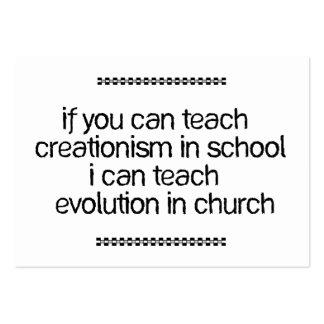 Enseñe a la evolución en iglesia tarjeta de negocio
