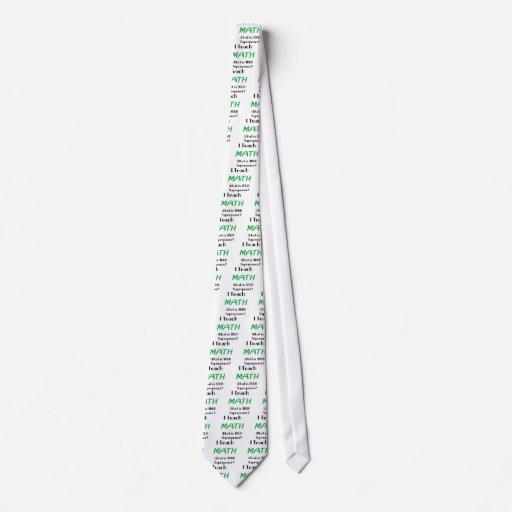 Enseñe a la matemáticas corbata personalizada