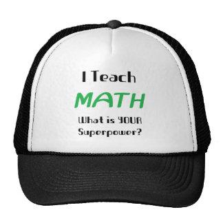 Enseñe a la matemáticas gorras de camionero