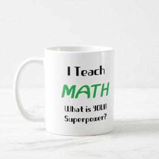 Enseñe a la matemáticas tazas de café
