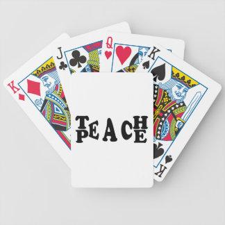 Enseñe a la paz cartas de juego