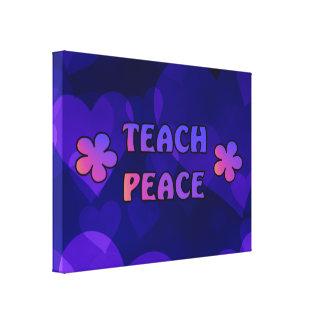 Enseñe a la paz lona envuelta para galerías