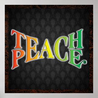 Enseñe a la paz póster