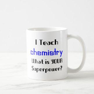 Enseñe a la química tazas de café