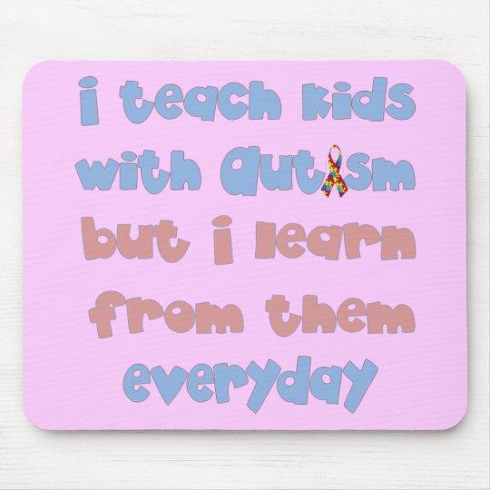 Enseñe a los niños con autismo - cinta de la conci alfombrilla de raton