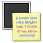 Enseñe a los niños con autismo - cinta de la conci iman de frigorífico