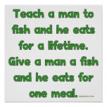 Enseñe a un hombre a pescar posters