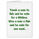 Enseñe a un hombre a pescar tarjetón