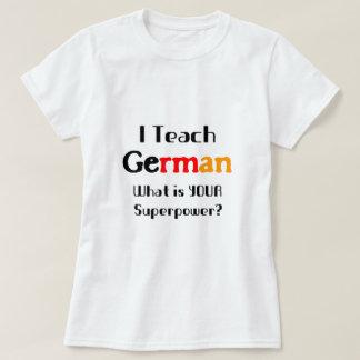 Enseñe al alemán playera