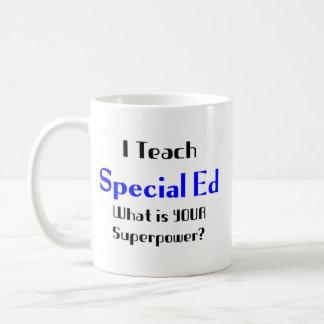 Enseñe al ed especial tazas de café