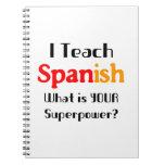 Enseñe al español cuadernos