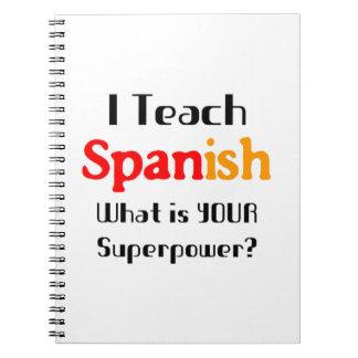 Enseñe al español libretas espirales
