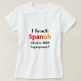 Enseñe al español playera