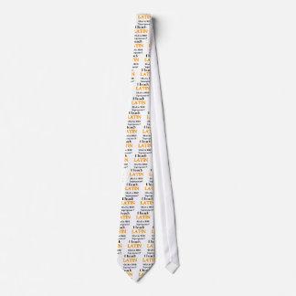 Enseñe al latín corbatas personalizadas