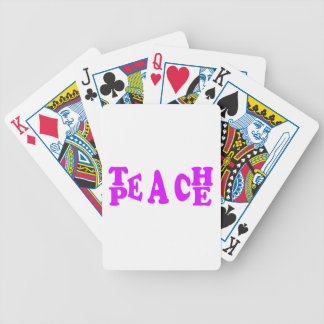Enseñe al melocotón en fuente púrpura baraja cartas de poker