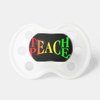 Enseñe al pacificador del bebé de Rasta de la paz Chupete De Bebe