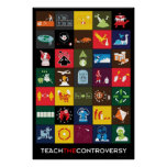 Enseñe al poster de la controversia