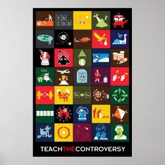 Enseñe al poster de la controversia póster