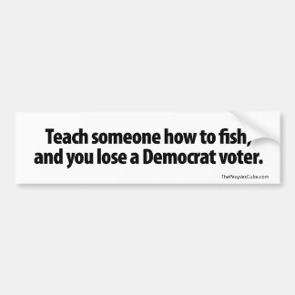 Enseñe alguien a cómo pescar pegatina para auto
