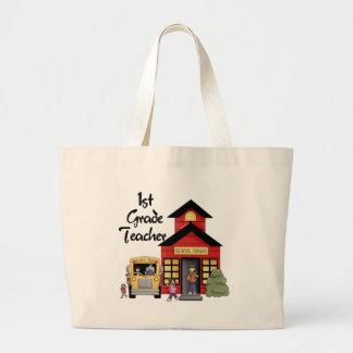 Enseñe las 1ras camisetas y regalos del profesor d bolsas lienzo