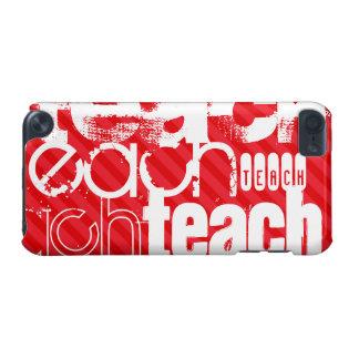 Enseñe; Rayas del rojo del escarlata Funda Para iPod Touch 5G