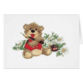 Enséñeme a escribir el oso trasnparent felicitación