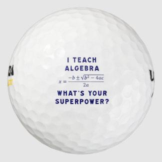 ¿Enseño a álgebra/cuál es su superpotencia? Pack De Pelotas De Golf