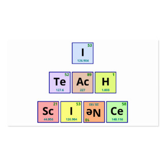 Enseño a ciencia tarjetas de visita