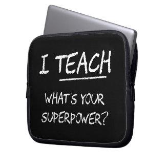 ¿Enseño a cuál es su superpotencia? Fundas Portátiles