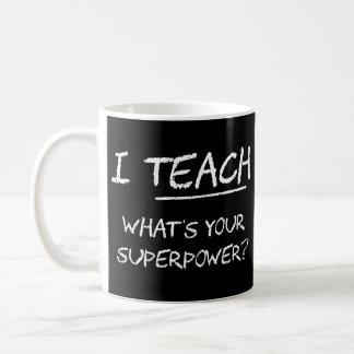¿Enseño a cuál es su superpotencia? Taza De Café