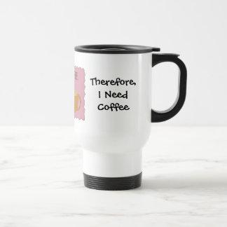 Enseño a diseño chistoso del café con decir taza térmica