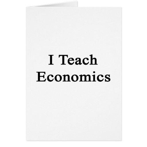 Enseño a la economía tarjeta