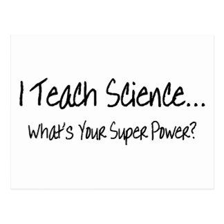 Enseño ciencia a cuál es su superpoder tarjeta postal