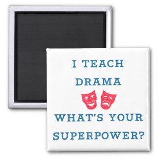 ¿Enseño drama a cuál es su superpotencia? Imán Cuadrado