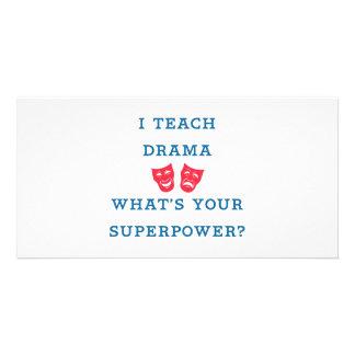¿Enseño drama a cuál es su superpotencia? Tarjeta Fotográfica Personalizada