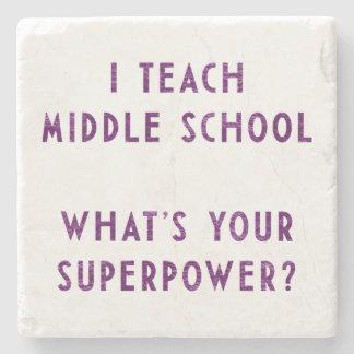 ¿Enseño escuela secundaria a cuál es su superpoten Posavasos De Piedra