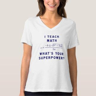 ¿Enseño matemáticas a cuál es su superpotencia? Playera