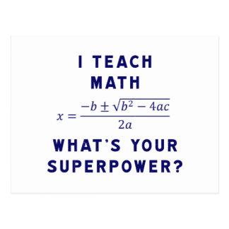 ¿Enseño matemáticas a cuál es su superpotencia? Postales