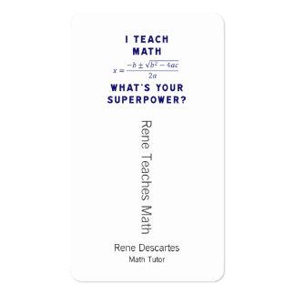 ¿Enseño matemáticas a cuál es su superpotencia? Tarjetas De Visita