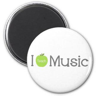 Enseño música a Apple verde Imán Redondo 5 Cm
