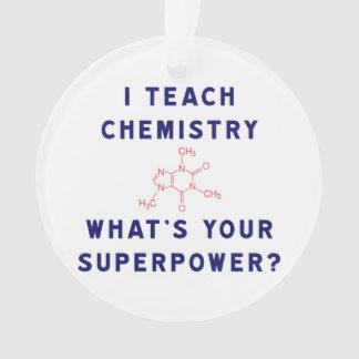 ¿Enseño química a cuál es su superpotencia?