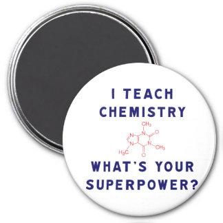 ¿Enseño química a cuál es su superpotencia? Imán Redondo 7 Cm