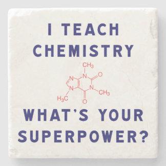 ¿Enseño química a cuál es su superpotencia? Posavasos De Piedra