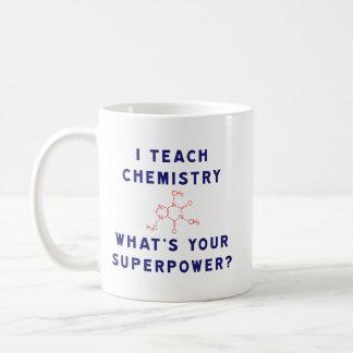 ¿Enseño química a cuál es su superpotencia? Taza