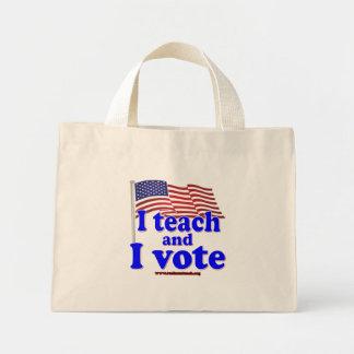 Enseño y voto bolsa