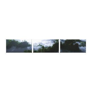 Enshrouded Panorama Canvas Prints