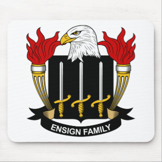 Ensign Family Crest Mouse Pads