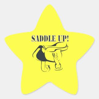 Ensille para arriba 2 pegatina en forma de estrella